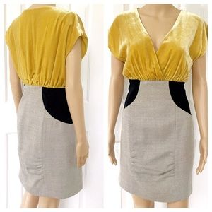 Ali Ro Velvet mini length V neck dress
